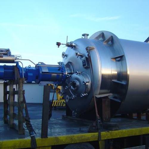 reactor met gepolijst deksel