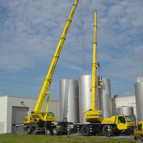 plaatsing van opslagtanks 75 en 100 m³